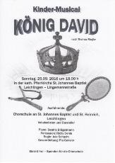 Plakat zum Kindermusical König David