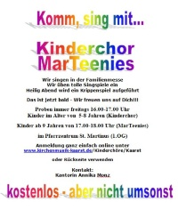 Kinderchor MarTeenies